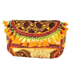 Bohomia Handicraft Embroidered Canvas Clutch Bag
