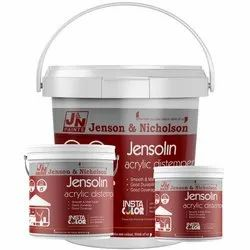 Jenson & Nicholson Jensolin Acrylic Distemper, for Home Decoration, Packaging Type: Bucket. Can