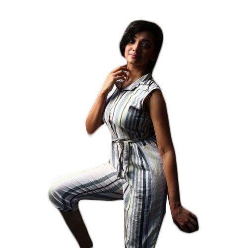 a71b776d2adb Cotton Casual Wear Ladies Striped Jumpsuit