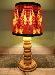 Wooden Table Lamp and Shade
