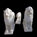 White Lion Marble Statue
