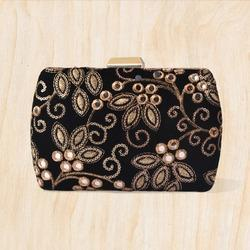 Embroidered Fabric Printed Beautiful Clutch