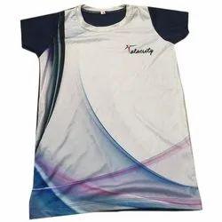 Spear Half Sleeve Cotton Ladies Sports T Shirt, Size: XS To XXXL