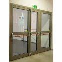 Fire Resistant Aluminum Frame Glass Door