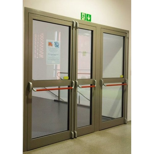 Fire Resistant Aluminum Frame Glass Door