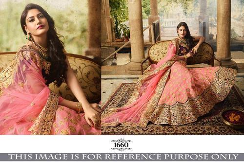 ea474c5fa36388 Party Wear Latest Designer Floral Embroidered Hand Work Lehenga Choli