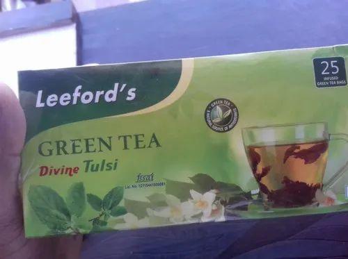 Leeford Tulsi Green Tea, Packaging Type: Packet