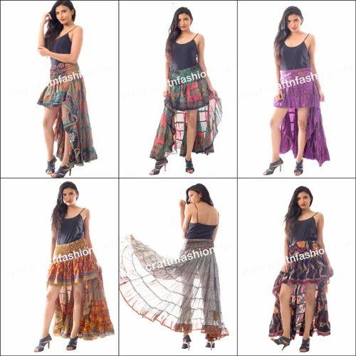 76b0dbd68e40 MEGH CRAFT Beautiful Latest Designer Hippie Bohemian Style Ibiza Skirt