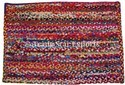 Indian Rectangular Cotton Floor Braided Rug