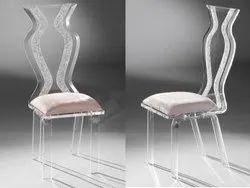 DD DESIGNS Transparent Stylish Acrylic Chair