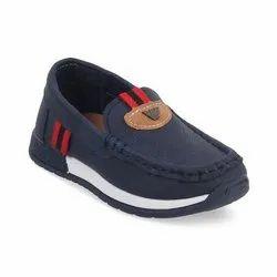 Kids Navy Blue Loafer Shoes