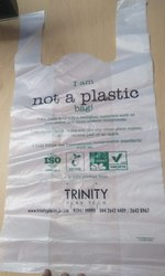 Corn Starch plain and printed Bio compostable carry bags