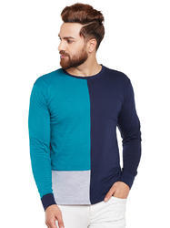 Men Full Sleeve Solid Multicolour Round Neck T-Shirt