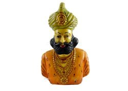 Handmade Handpainted Indian King Resin Figurine Sculpture