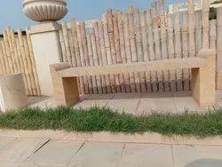 Rainbow Sandstone Garden Bench