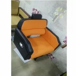 Black and Orange Salon Chairs