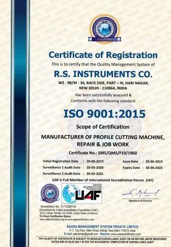Profile Cutting Machine Manufacturer from New Delhi