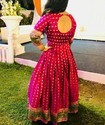 Gown Customised From A Banarasi Saree