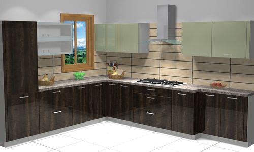L Type Modular Kitchen