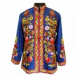 Pumposh Kashmiri Hand Embroidered Jacket, Size: Medium and Large