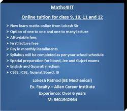Mathematics Online Coaching Service - Class 9, 10, 11 and 12