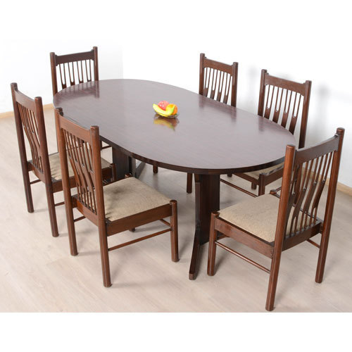 Brown 6 Seater Wooden Dining Table Set Rs 20600 Set Mg Furnitures
