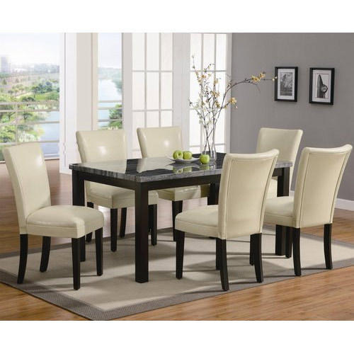 Marvelous Beige Leather Dining Chairs Kitchen Dining Furniture Machost Co Dining Chair Design Ideas Machostcouk