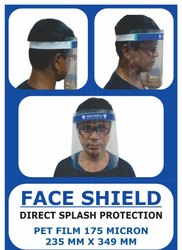 Safety Face Shields, Size: Medium, Easy To See