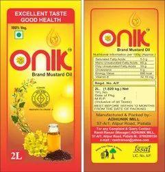 Onik Brand Mustard Oil, Agmark Certified 2 Ltr