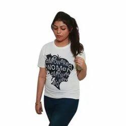 Half Sleeves Printed Ladies Casual Wear T Shirt
