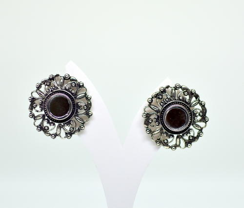 Flower Mirror Fashion Stud Earring