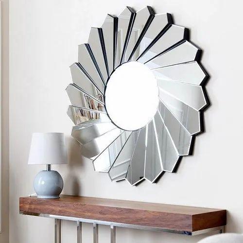 Silver Venetian Design Kayden Modern Round Wall Mirror Size 30 X 30 Inches Rs 12500 Piece Id 21438053833