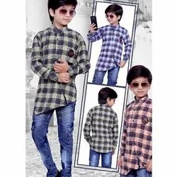 Boys Casual Wear Jeans Shirt Set, Age Group: 3-12 Year