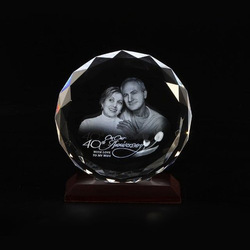3D Crystal- Round Photo Frame