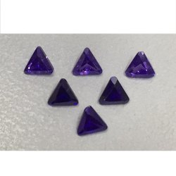 Cubic Zirconia Purple Triangle