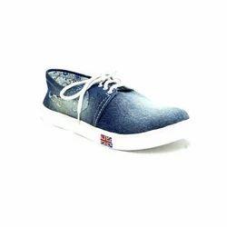Ladies Casual Wear Blue Canvas Shoes