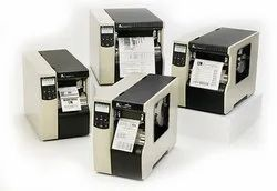 Black and White Thermal Printers Zebra 1104xi Barcode Printer, Speed: 100-200 Meter per hour, USB