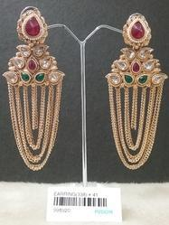 Chandelier Chain Jhumka Earrings