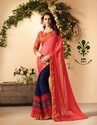 Fancy Georgette Print Border Saree