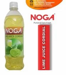 Yellow Lemon NOGA LIME JUICE CORDIAL, Packaging Size: 700 ml, Packaging Type: Plastic Bottle