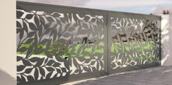 Attractive Stainless Steel Gate Grill Design