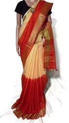 Pure Linen By Linen 120 Count Tie And Dye Sarees
