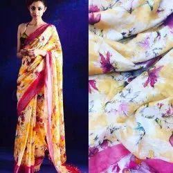 Pure Digital Linen Saree