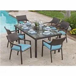 Rectangular(Table) Brown Dining Table Set