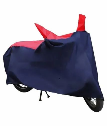 Red, Navy Blue Sporty Bike Cover