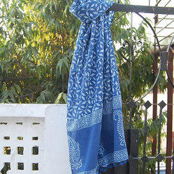 Block Printed Ladies. Stole