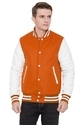 Orange White Varsity Jacket - Men's