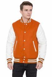 Orange White Varsity Jacket - Men''s