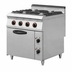 MD LPG 4 Burner Cooking Range, For Restaurant
