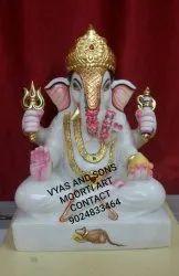 Marble Dagdu Halwai Ganesh Statue